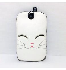 Cover cellulare Gatto bianco