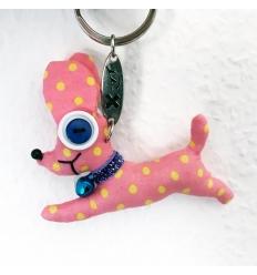 Portachiavi Chihuahua rosa - Vintage Doll