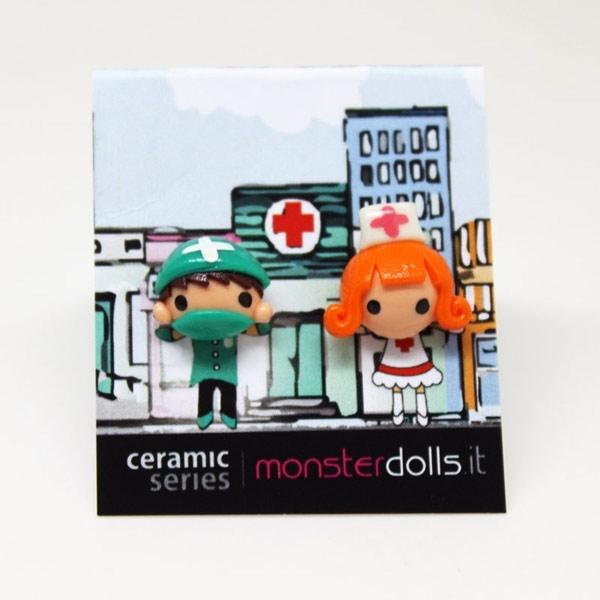 Doctor + Nurse - Earrings Ceramic Series