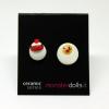 Hen + Egg - Earrings Ceramic Series