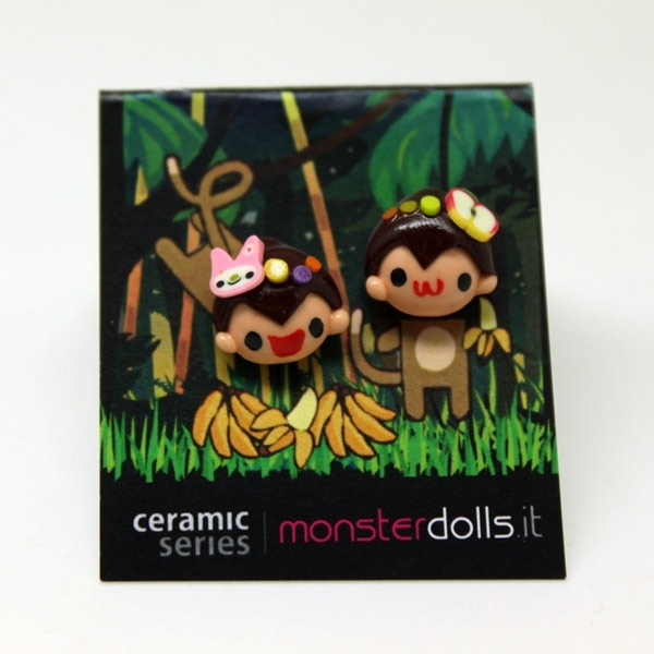 Monkeys - Earrings Ceramic Series