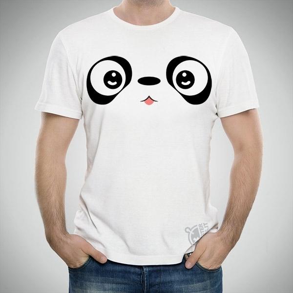 White T-shirt - Panda