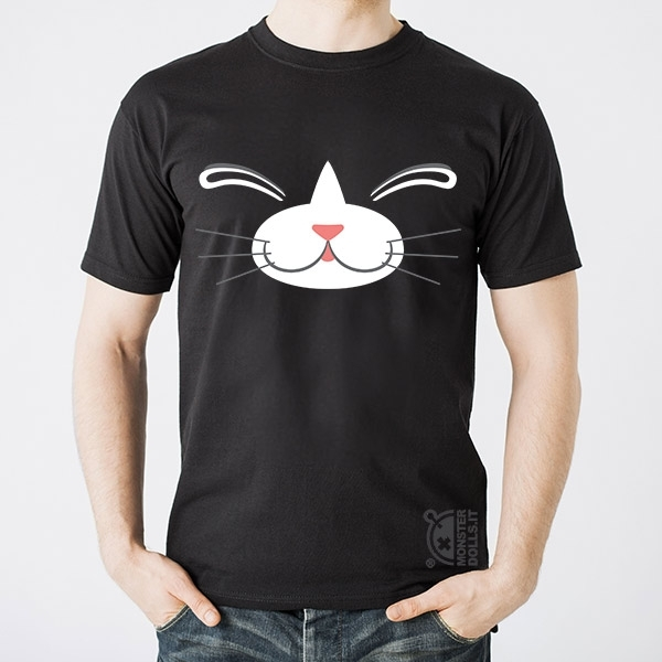 Black T-shirt - Cat